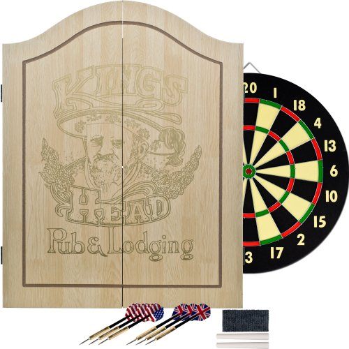 King's Head Light Wood Dartboard Cabinet...