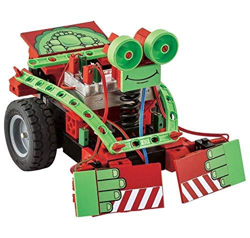 fischertechnik Mini Bots - das Roboter Spielzeug mit 5 Modellen bietet den Einstieg in das Thema Roboter - der Roboter für Kinder beinhaltet ROBOTICS-Modul, IR Spursensor, 2 Taster und 2 XS-Motoren