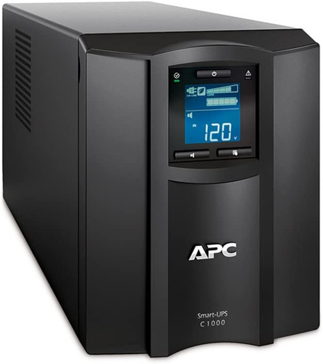 APC Smart-UPS 1000VA UPS Battery Backup with Pure Sine Wave Output (SMC1000)(Not sold in Vermont)