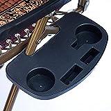 Keyohome - Portavasos para tumbona, bandeja de mesa auxiliar plegable, bandeja lateral para tumbona, jardín, sillón relax