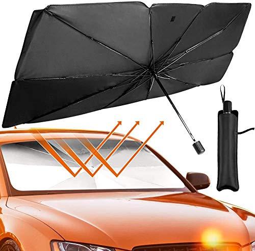 GZD Auto Sonnenschutz Windschutzscheibe Sonnenschutz, sperren UV-Strahlen Sonnenblende Schutz, Auto-Windschutzscheibe Sonnenschutz Regenschirm mit Aufbewahrungstasche