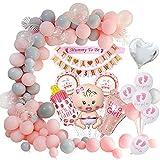 MMTX Baby Shower Decoracion niña, globos de fiesta para baby shower para niños momia para ser faja, pancartas para baby shower para mamá para ser fiesta de revelación de género