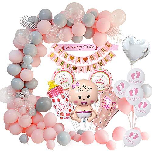 MMTX Baby Shower Dekorationen Mädchen, Babydusche Party Luftballons- Mama die Schärpe ist, Babyparty-Banner, Baby Folienballon für Mama zu Sein Gender Reveal Party Mehrweg