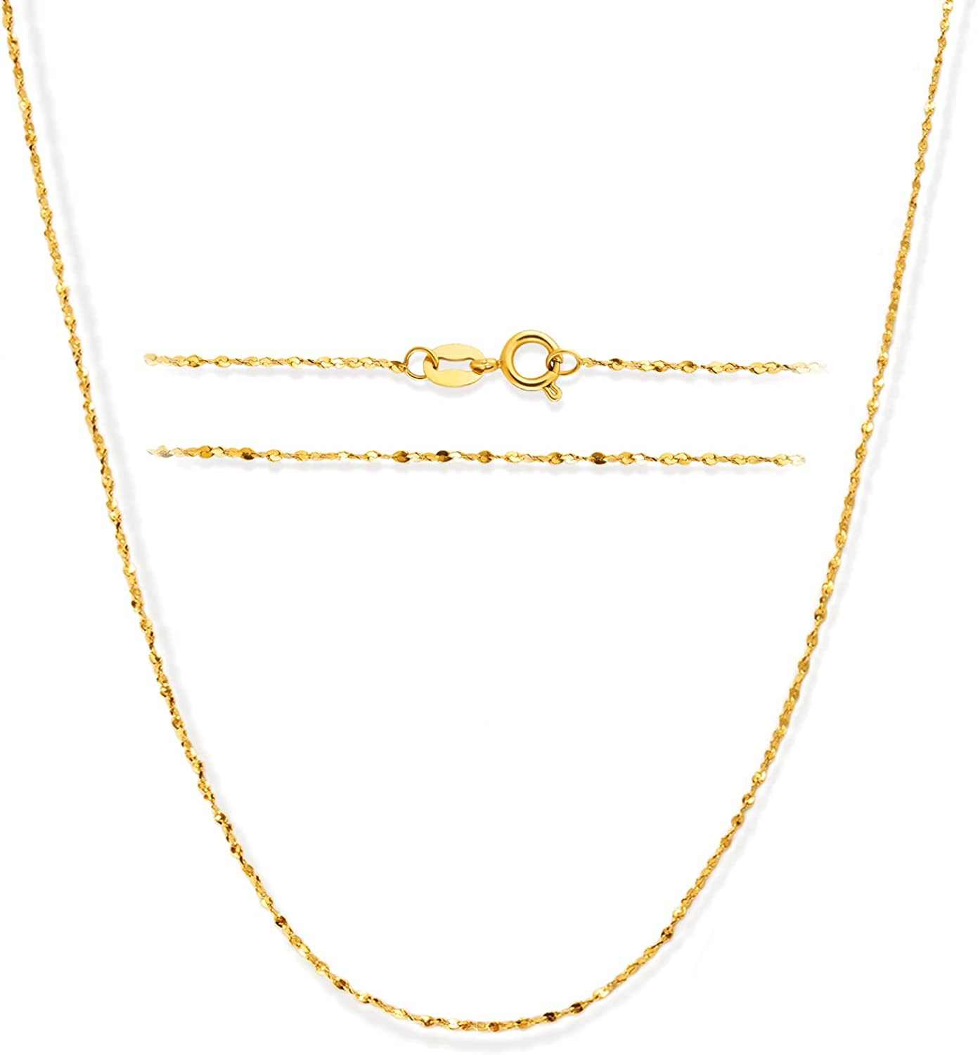 Stainless Animer and price revision Steel Nashville-Davidson Mall Chain: 14K Gold Simple Mirror Plated Fash Dainty