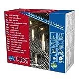 Konstsmide 6004-103 LED Minilichterkette / für Außen (IP44) / 24V Außentrafo / 40 warm weiße Dioden / transparentes Kabel