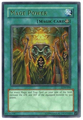 Yu-Gi-Oh! - Mage Power (LON-050) - Labyrinth of Nightmare - Unlimited Edition - Ultra Rare
