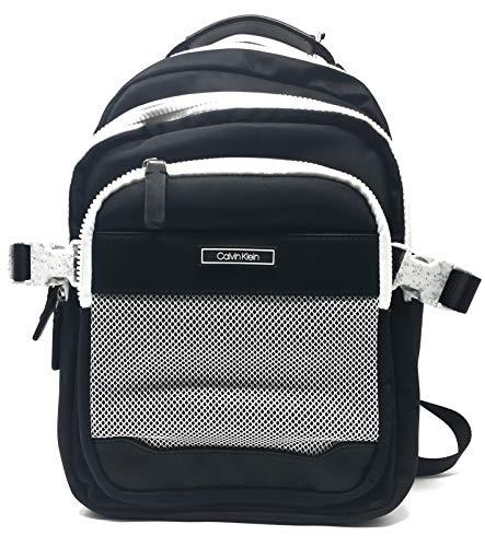 Calvin Klein H9AKE9CJ Nylon Backpack, Black/White