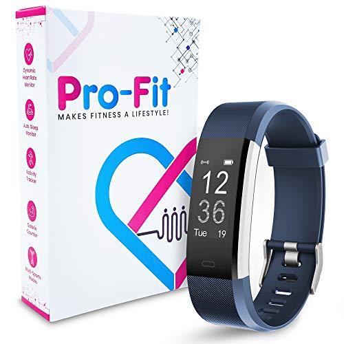Pro-Fit Active VeryFitPro Fitness Tracker IP67 Waterproof Activity Tracker Heart Rate Sleep Monitor (Dark Blue)