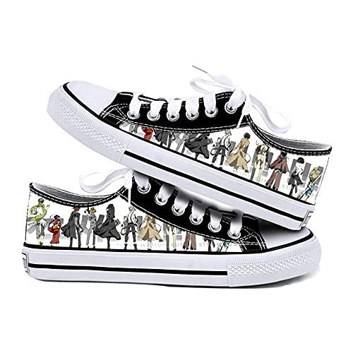 NIEWEI-YI Bungou Stray Dog Anime Canvas Shoes Unisex Casual Sneaker Shoes Sports Shoes,39 EU