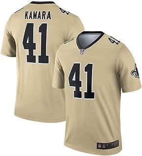 Franklin Sports New Orleans Saints #41 Alvin Kamara Gold Inverted Legend Jersey for Men - XL