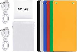 PULUZ 24cmx23cmx22cm include 2 LED Panels Folding Portable Light Photo Lighting Studio Shooting Tent Box Kit with 6 Colors...