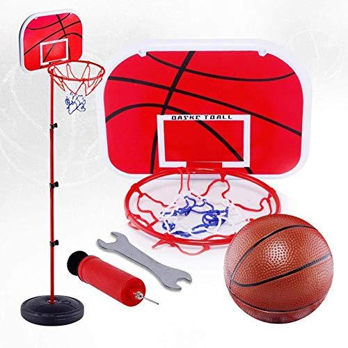 Hilai Basketballkorb und Ständer, einstellbare Höhe Basketball Set mit Ball & Net Free Standing Kinder Basketballkorb für Innen Außen Kinder Aktivität
