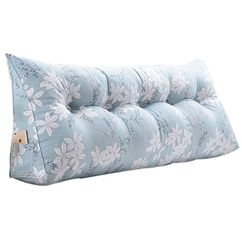 Review Lumbar Pillows Bed Pillows Positioners Cushion Big Pillow Easy to Separate and Clean Blue Pil...