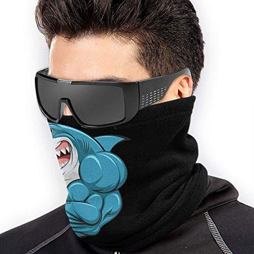 ShiHaiYunBai Halstuch/Kopftuch Muscle Shark Soft Neck Warmer Gaiter Face Protective Scarf Balaclavas Unisex