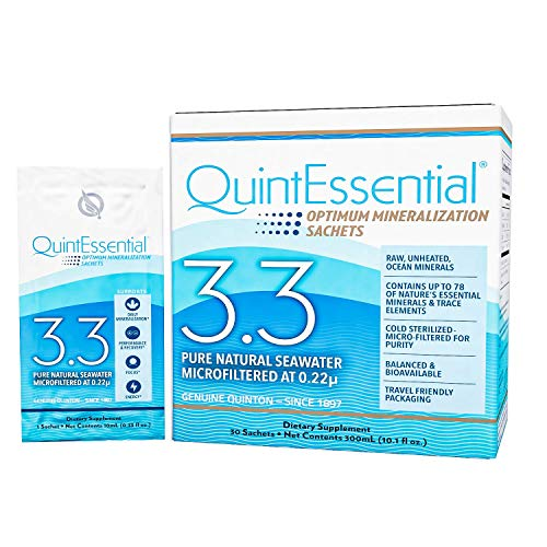 QuintEssential 3.3 - Seawater Electrolyte Liquid Minerals Supplement for...