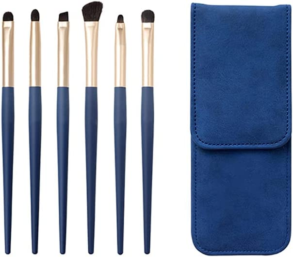 CJSWT 6pcs Eye Brush sold out Set Max 79% OFF 6 Handle Pieces Eyeshado Makeup Wooden