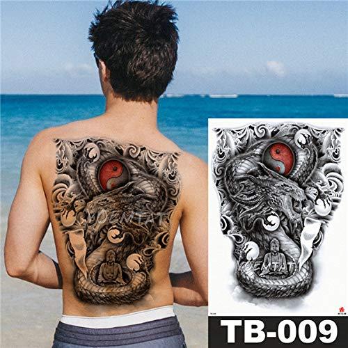 Handaxian 3pcsAngel Cross Wings Big Tattoo Sticker Impermeable Tatuaje Full Back Gorgeous Jewelry Body Art 2pcs-9