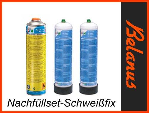 Ersatzgasdosen für SF 3100 CFH, 1x Spezialgas AT 3000 + 2 x 1L Sauerstoff 1Liter