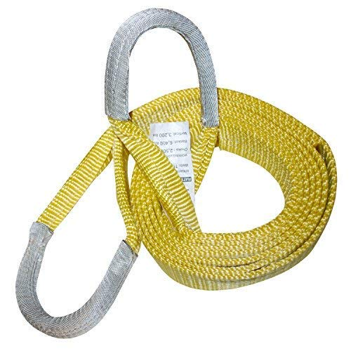 """2"""" x 12' 1-Ply Nylon Recovery Tow Strap - 20,000 lbs - 8"""" Cordura Eyes - Great Snatch Strap for ATVs, Snowmobiles & More!"""