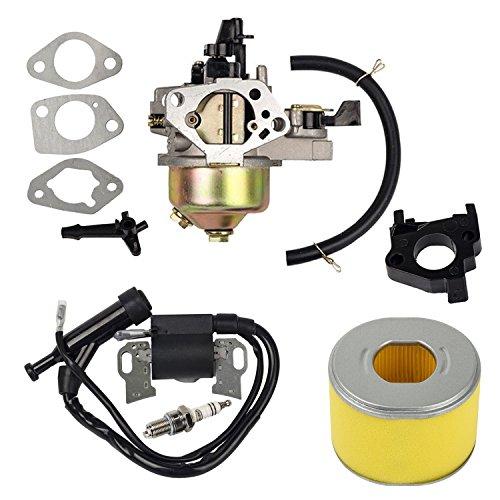 OxoxO Bobine d'allumage de carburateur et filtre à air de rechange pour tondeuse à gazon Honda Gx240 Gx270 8HP 9HP