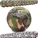 C.P. Sports - Balón medicinal, diseño de camuflaje militar, color verde oliva o blanco, 0,5 kg a 15 kg, 5 kg, color verde oliva