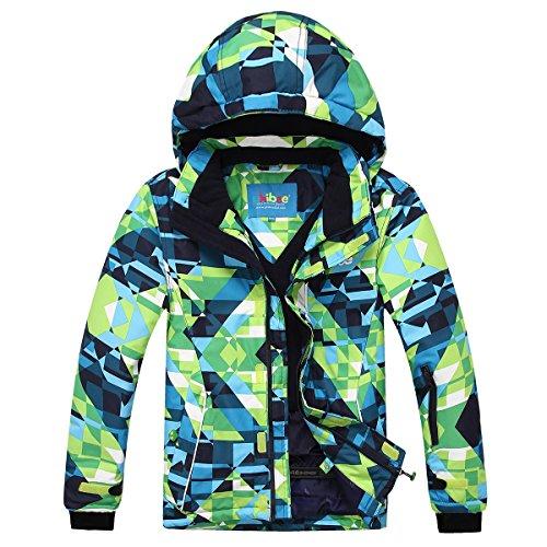 PHIBEE Mens Waterproof Windproof Outdoor Fleece Ski Jacket Print XL