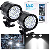 90W Motorcycle Bicycle DRL Daytime Running Lights, Universal Extra Motorbike Lights 12V 24V Fog Lamps For ATV Tractor Truck Car Auxiliary Lights White Beam