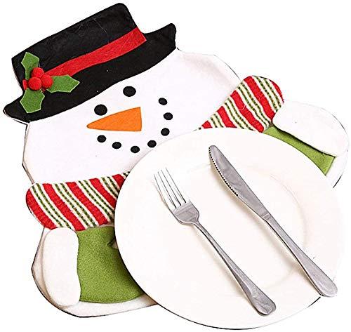 Wacemak1r Posavasos de Navidad con diseño de muñeco de nieve de Papá Noel para decoración de mesa de comedor, muñeco de nieve, 1 unidad