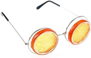 QPRER - Gafas De Sol,Naranja Patrón De Novedad Chica Clásica IR De Compras Gafas De Sol Verano Niños Diariamente Al Aire Libre Gafas Niño Seaside Party Decoraciones Cumpleaños Día del Niño Regalo