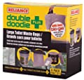 Reliance Products Double Doodie Plus with BIO-Gel | Large Portable Toilet Waste Bags | Family-Sized 6 Pack