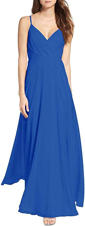 LINDO NOIVA Bridesmaid Dresses Long Chiffon Wedding Guest Dress Pleated V NeckBackless Prom Gown LBM27