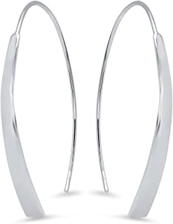 Pori Jewelers Sterling Silver Arc Threader Drop Earrings