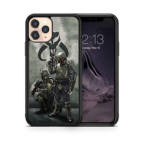 Case Star Wars Mandalorian Compatible with iPhone 12 Pro Max Mini 11 XR X 7 8 Plus SE Samsung Galaxy S20 S10 S9 S10e Plus Note 9 10 20 Ultra Google Pixel 3 3a XL 4 TPU SN (iPhone 12/12 Pro)