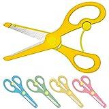 Enid Store Bastelschere Kinder-Schere mit Sicherung | Gelb
