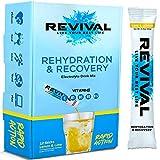 Revival Isotonisches Getränkepulver Elektrolyt Drink - Gesundheits- und Sportgetränk – Zitrone & Limette 12 Sticks