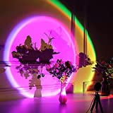 Nellsi Sunset Lamp Projection, 16 Colors Changing Projector LED Floor Lamp Rainbow Night Light 360 Degree Rotation for Photography/Party/Home Decor/Bedroom Living Room Bring Modern UFO Sunset Lamps