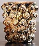 Market Street Gold Hobnail Mercury Glass Votive Candle Holder