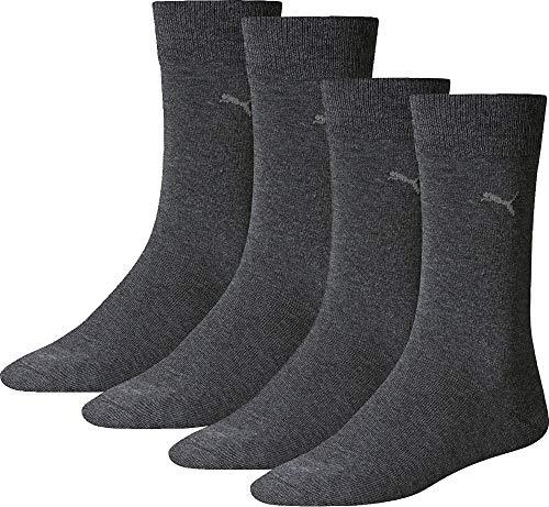 PUMA Socks Herren-Socken 4er-Pack anthrazit Größe 39-42