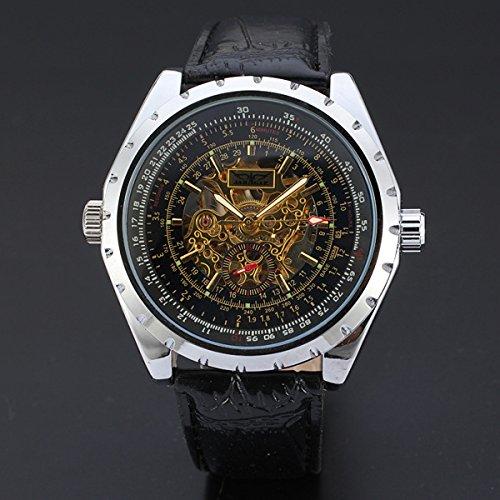 SPORTWATCHES Schöne Uhren, Schweizer Business Casual hohlen Zifferblatt automatische mechanische Uhr Großhandel (Color : 1)