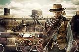 Cowboy Wilder Westen Bild XXL Wandbild Kunstdruck Foto