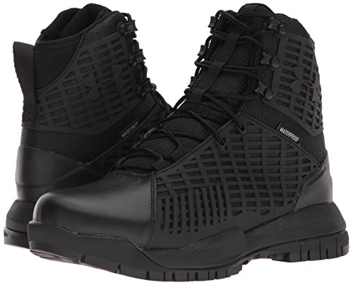 Under Armour Women's Stryker Waterproof Military and Tactical Boot, Black (001)/Black, 9