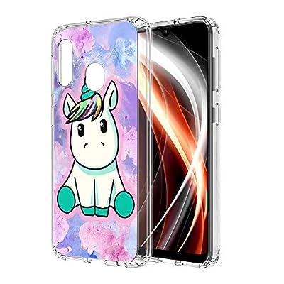 ZhuoFan Funda Samsung Galaxy A20e, Cárcasa Silicona Transparente con Dibujos Diseño Suave TPU Gel Antigolpes de Protector Piel Case Cover Bumper Fundas para Movil Samsung GalaxyA20e, Pretty Unicornio