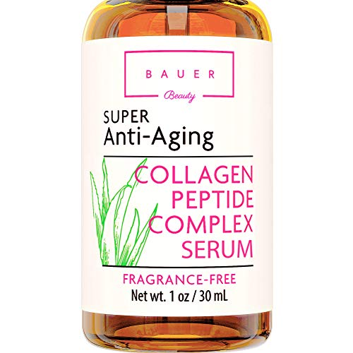 Collagen Face Serum Best Anti Aging Peptide Complex with Matrixyl 3000 and Hyaluronic Acid, Vitamin E, Brightening and Skin Tightening for Glass Skin