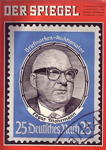 Der Spiegel Nr. 05/1962 31.01.1962 Briefmarken-Auktionator Edgar Mohrmann 25 Deutsches Reich