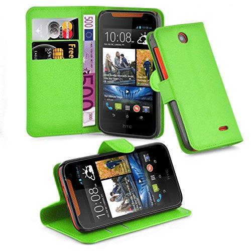 Cadorabo Hülle für HTC Desire 310 in MINZ GRÜN - Handyhülle mit Magnetverschluss, Standfunktion & Kartenfach - Hülle Cover Schutzhülle Etui Tasche Book Klapp Style