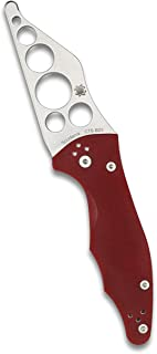 Spyderco Yojimbo 2 Trainer Folding Knife - Red G-10 Handle with Blunted CTS BD1 Steel Blade and Compression Lock - C85TR2