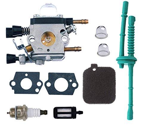 OxoxO Vergaser-Kit mit Grundierung, Luftfilter, Kraftstofffilter, passend für Stihl BG45 BG46 BG55 BG65 BG85 BR45C SH55 SH85 Gebläse 4229 1200 606 Tune Up Kit