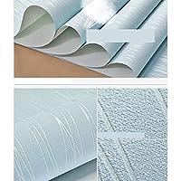 0.53x9.5m壁紙ロール、不織布壁装材、環境にやさしい非粘着性壁装材、リビングルームの寝室用壁紙 (Color : 青い)
