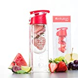Infruition Sport borraccia con infusore di frutta da 700 ml, Fire Red