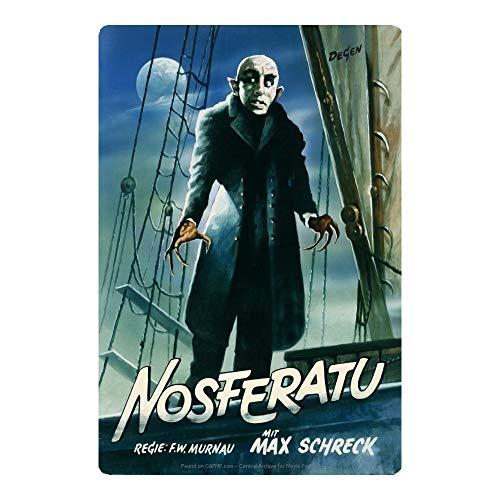 Bleschilder Retro Nosferatu - Vampir - Blechschild Vintage Film - 20x30
